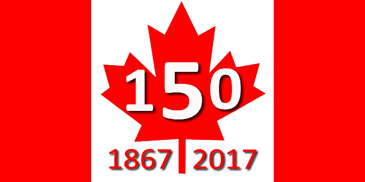 Flag of canada 150 dated 640 1280