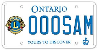 Lions Licence Plate Sample