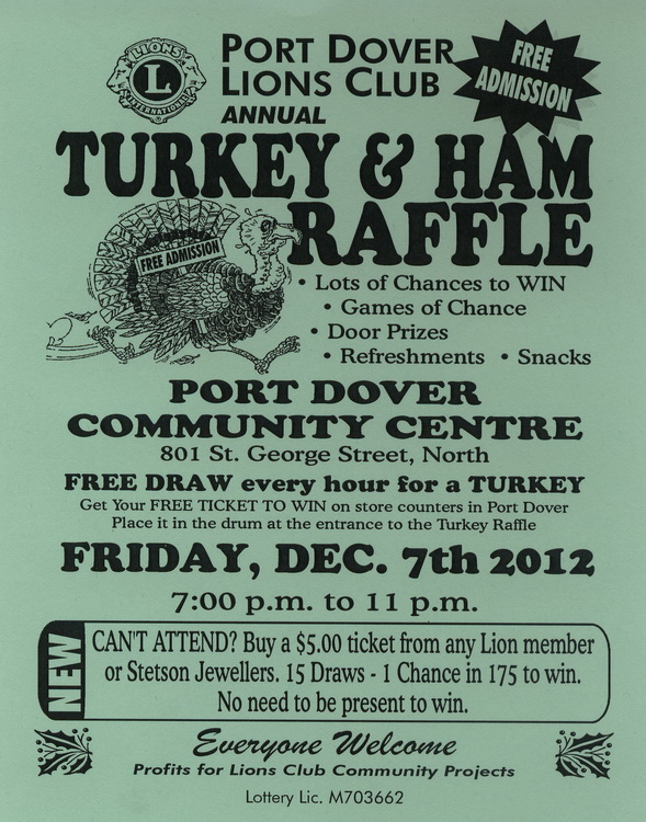 Turkey Raffle Promotional Flyer